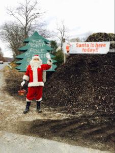 Santa's North Pole at Gosset Brothers Nursery, South Salem, NY, come see Santa and bring Christmas wish lists